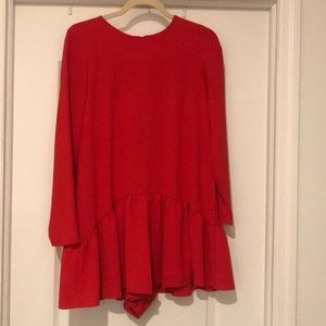 Zara red play suit